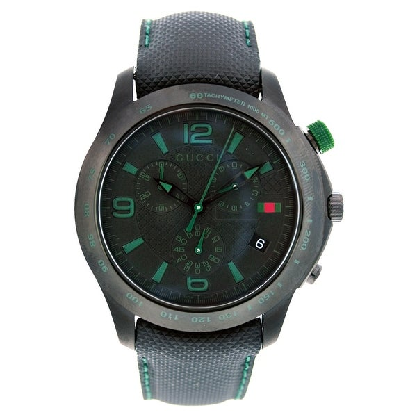 c80830584d0 Shop Gucci Men s G-Timeless YA126225 Black Dial Watch - Free Shipping Today  - Overstock - 25437778