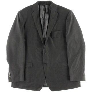 Calvin Klein Mens Pattern Notch Collar Two-Button Blazer - 46R