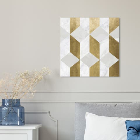 Oliver Gal 'Gatsbys Gold' Abstract Wall Art Canvas Print - Gold, White