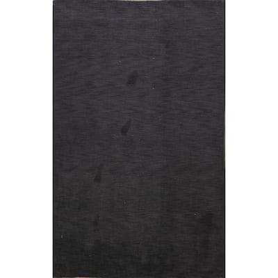 "Solid Modern Gabbeh Oriental Area Rug Wool Handmade Office Carpet - 6'2"" x 9'3"""