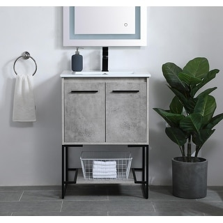 Link to Woodland Modern Vanity Cabinet Set with Top Similar Items in Bathroom Furniture
