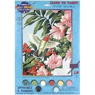 "Paint Works Paint By Number Kit 9""X12""-Hummingbird & Fuchsias"