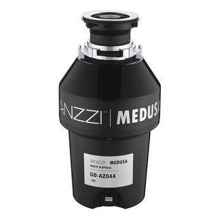 Anzzi GD-AZ044 Medusa 1 HP Continuous Garbage Disposal - Power Cord Included