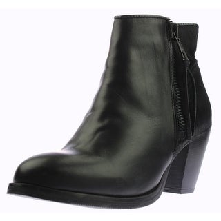 Bronx Womens Mag Nolia Leather Chunky Heel Ankle Boots