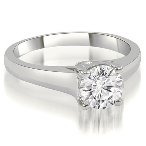 0.50 cttw. 14K White Gold Trellis Round Cut Diamond Engagement Ring