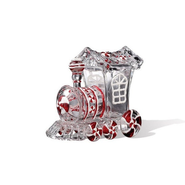 """Pack of 4 Icy Crystal Animated Decorative Train Candy Jars 7.3"""" - CLEAR"""