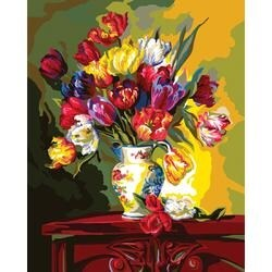 """Tulips On Parade - Paint By Number Kit 16""""X20"""""""