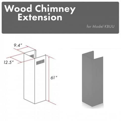 61 in. Wooden Chimney Extension for Ceilings up to 12.5 ft. (KBUU-E)