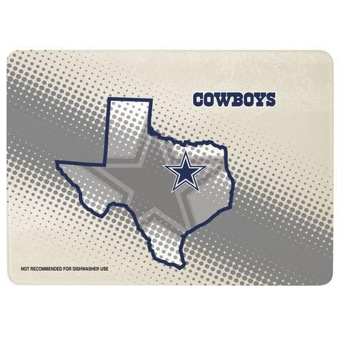 """Dallas Cowboys 12"""" x 8"""" Glass Cutting Board"""