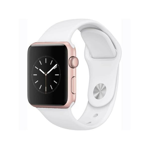 Apple Watch Series 2 38mm Rose Gold Aluminum Case White Band Refurbished Overstock 30733487