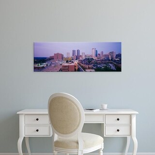 Easy Art Prints Panoramic Images's 'Skyscrapers in a city at dusk, Fort Worth, Texas, USA' Premium Canvas Art