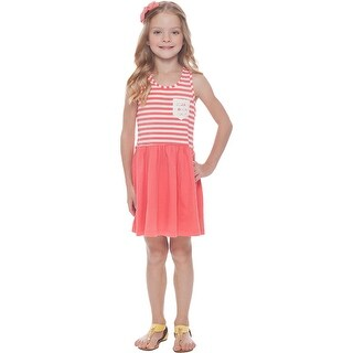 Girls Dress Sleeveless Striped Sundress Kids Clothing 2-10 Years Pulla Bulla