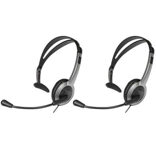 Panasonic KX-TCA430 (2 Pack) Telephone Headset For AT&T Noise Cancelation Mic Volume Control