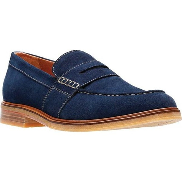 e48f425461a11 Shop Clarks Men's Clarkdale Flow Penny Loafer Navy Suede - Free ...