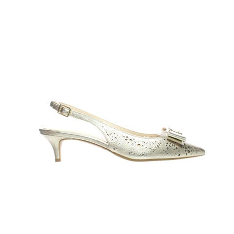 Cole Haan Womens Tali Bow Gold Slingbacks Size 8