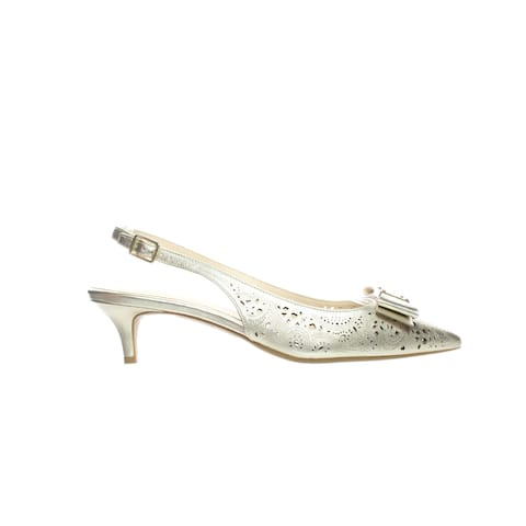Cole Haan Womens Tali Bow Gold Slingbacks Size 9