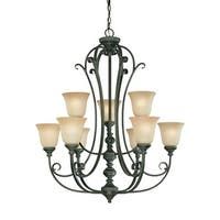 Craftmade 24229 Barrett Place Two Tier 9 Light Chandelier - 32.5 Inches Wide
