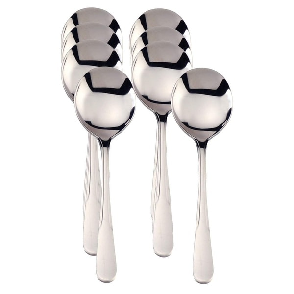 RSVP Monty's Stainless Steel Soup Spoons - Set of 8. Opens flyout.