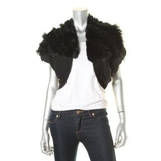 Elie Tahari Womens Rabbit/Fox Fur Bolero Shrug - M