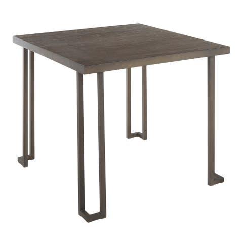 Carbon Loft Arturio Industrial Wood & Metal Dinette Table