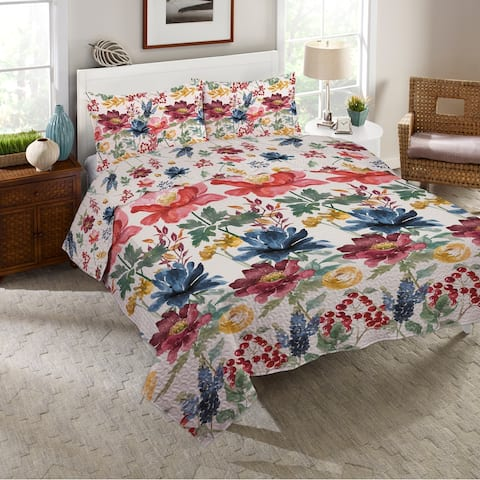 Watercolor Fall Twin Quilt Set