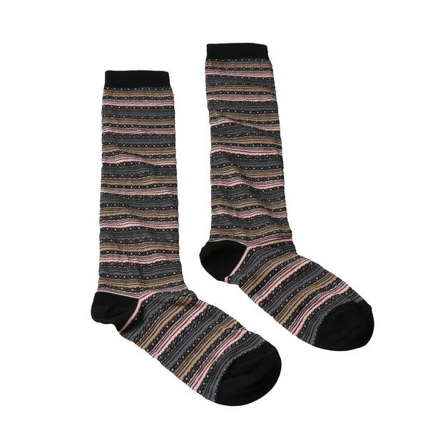 Missoni GM00CMD5220 0005 Gray/Pink Knee Length Socks - Grey