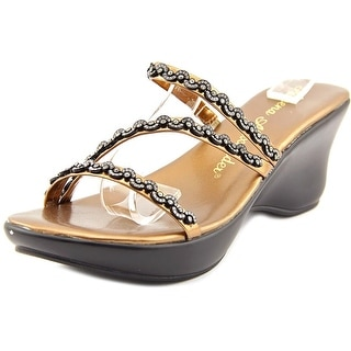 Athena Alexander Mandie Women Open Toe Synthetic Bronze Wedge Sandal