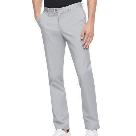 Calvin Klein Mens Chino Pants Gray Size 38x30 Refined Stretch Slim Taper