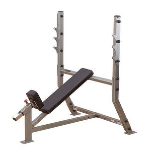 Body-Solid Pro ClubLine Deluxe 2x3 Flat/Incline Bench - metal