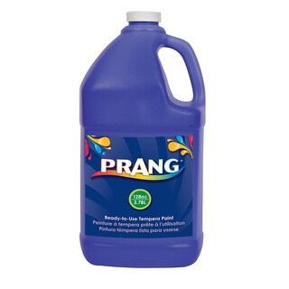 Prang Non-Toxic Ready-to-Use Liquid Tempera Paint, 1 gal Squeeze Bottle, Blue