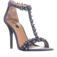 I35 Rosiee Flower T-Strap Sandals, Denim