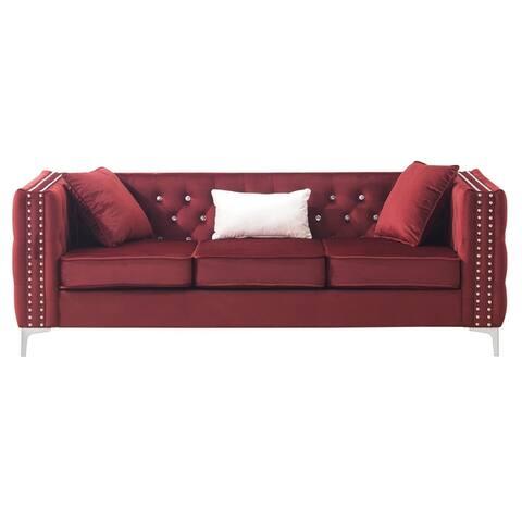 Paige Tufted Velvet Sofa
