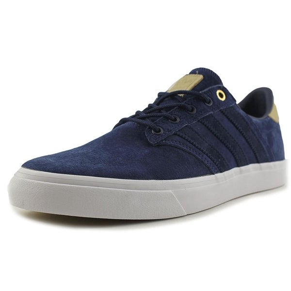 Adidas Seeley Premiere Classified Men Round Toe Suede Blue Sneakers