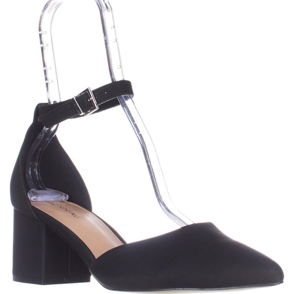 Call It Spring Trivio Ankle Strap Block Heel Sandals, Black