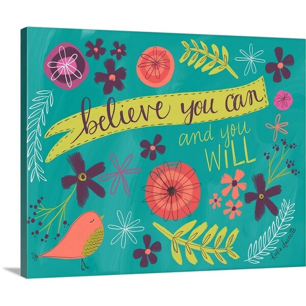 """""""Believe You Can"""" Canvas Wall Art"""