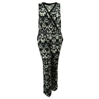 NY Collection Women's Sleeveless Elastic Waist Jumpsuit