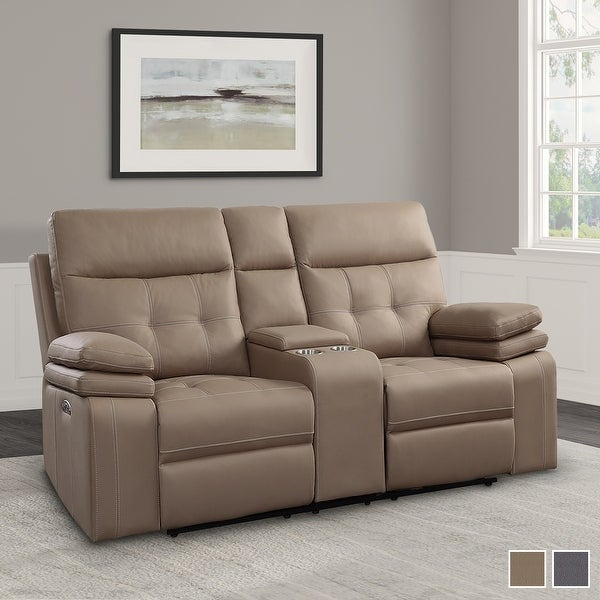 Shop Dalal Power Double Reclining Love Seat With Console