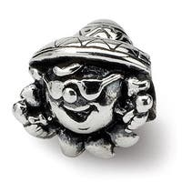 Sterling Silver Reflections Kids Clown Bead (4mm Diameter Hole)