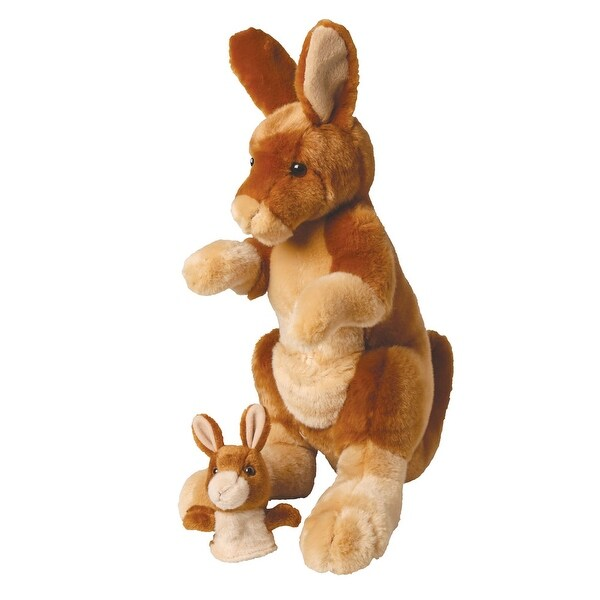 Mother and Baby Kangaroo Plush Animal Set