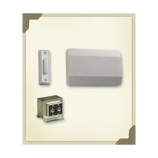 Quorum International 101-1 Single Story / Front Door Chime Kit with White plastic covers