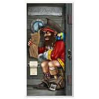 Club Pack of 12 Nautical Themed Pirate Captain Restroom Door Cover Party Decorations 5'
