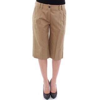 Dolce & Gabbana Beige Solid Cotton Shorts Pants