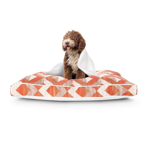 """Contemporary Diamond Pillow Dog Bed with Removable Cover - 24"""" x 36"""" x 3"""""""