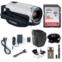 Canon VIXIA HF R800 Camcorder (White) with 16GB Essential Bundle