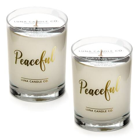 Lavender Aromatherapy Candle, 11oz Glass, Soy Wax, Slow Burn (2 Pack)