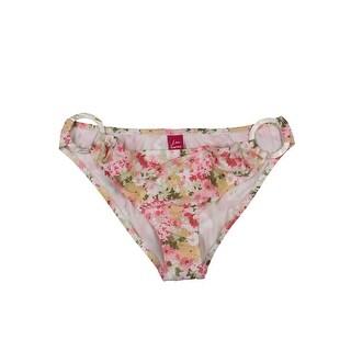 Lisa Curran Womens Floral Print O-Ring Swim Bottom Separates