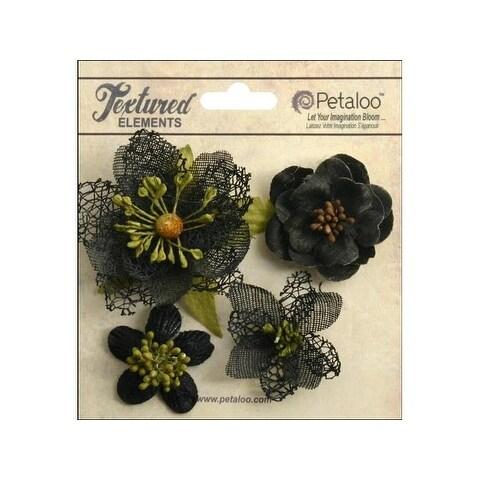 Petaloo Textured Elements Blossoms Black