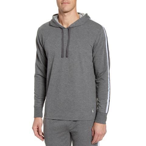 Polo Ralph Lauren Mens Pullover Mini Terry Hoodie Sweatshirt Small Grey