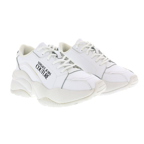 Versace Jeans Couture White Signature Classic Lace Up Sneakers. Opens flyout.