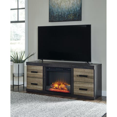 """Harlinton 63"""" TV Stand with Electric Fireplace"""